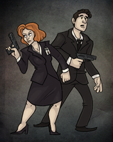 X-Files: Mulder and Scully by ph00