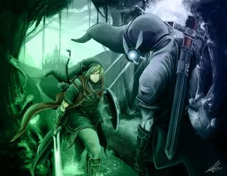 Link vs Dark Link by RazerChris