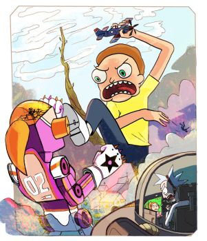 Attack of the 50ft Morty by Ahhmei