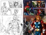 Spidey and Thor by holyghost13th