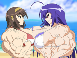 Two Powerful Girls Docking It Out by DepravedDefense