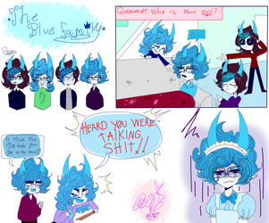 -BLUE FAMILY DOODLESS 4- by MikuBlazeTheKat