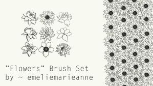 ''Flowers'' Brush Set for Photoshop by emeliemarieanne