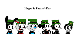 Happy St. Patrick's Day with Rubber Hose Toons by MarcosPower1996