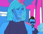 Atomic Blonde Colored 80's poster styled by UnicronHound