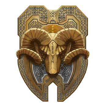 Dwarf-ram-shield-22 by cyderak