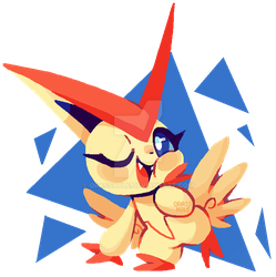 victorious victini by qrasshole