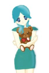 Jessi and her Teddy bear by Trollan-gurl22