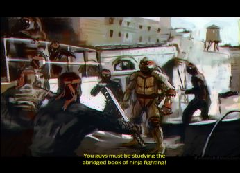1990 TMNT Speedpaint by juhoham