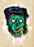 Zombie head by d4nger