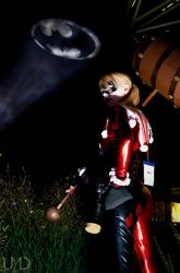 Harley with batman signal by UndyingMagic