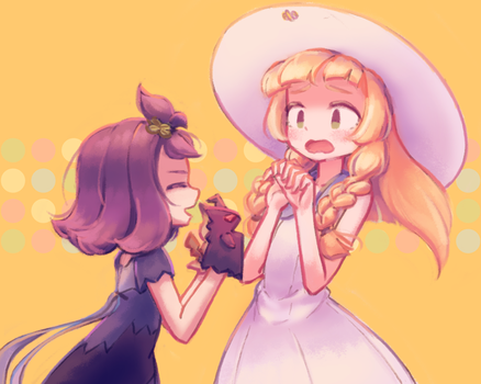 Acerola and Lillie by makaroll410