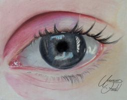 Eye for contest - Dry Pastel pencils by f-a-d-i-l
