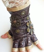 Lacy Steampunk Glove by NBetween
