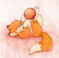 Little Playing Fox by Amarathimi