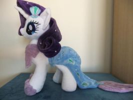 MLP-plush-Rarity mermare costume by Masha05