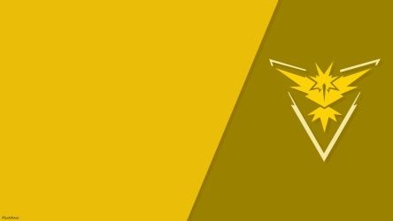 Pokemon Go Simple Team Instinct Wallpaper by FlickRare