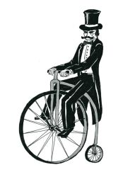 a gentleman and his bicycle by Gref313