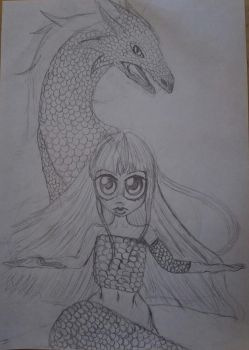 The girl that wears dragon (contest) by DemonBeatz