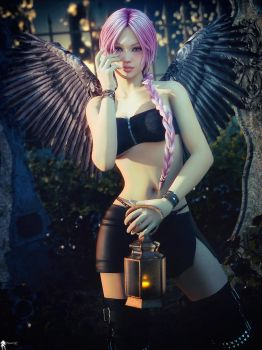 Black Angel 5 by LaMuserie