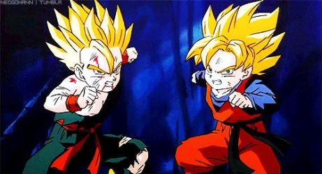 trunks and goten GIF by DBHeroes
