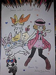 Serena with Her Current Team~Hand Drawing-6 by TheKalosQueenSerena