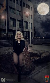 Black Canary-Oh Wait That is a Moon by dava361