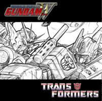 Gundam Vs. Prime Sneak Peek by CdubbArt
