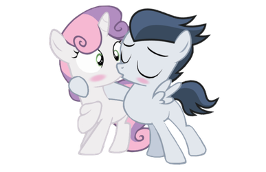 Surprise kiss by LunaticDawn