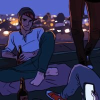 Rooftop Party by tohdraws
