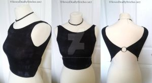 Grunge Crop Top with Ring by SevenDeadlyStitches