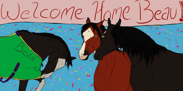 Welcome Home Beau - fanart by RimrockRanchEC