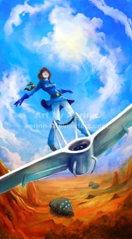 Nausicaa - Fly in the sky by Aerinn-I