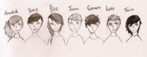 Percy Jackson Characters by ceedeng