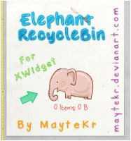 Elephant RecycleBin for XWidget by MayteKr
