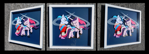 Shadowbox: Cadance and Shining Armor by The-Paper-Pony