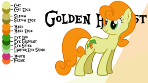 golden harvest mlp coloring pages - photo#7