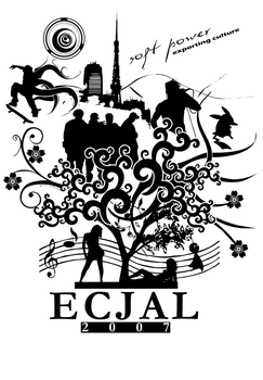 ECJAL 2007 Shirt Design White by visualscope