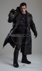 Danny Cyberpunk Detective 128 - Stock Photography by NeoStockz