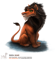 Daily Painting 1669# - Scar by Cryptid-Creations