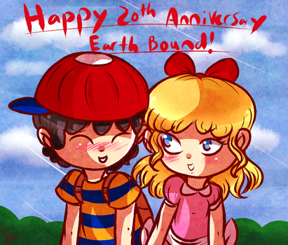 Earthbound 20th Anniversary by Jrynkows