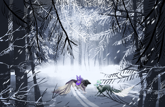 { Esk iPad Doodles } Winter Road by Zoomutt