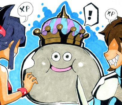 The King Metal Slime by Azole-Fantasy