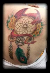 Dream catcher dragon by state-of-art-tattoo