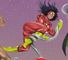 Tentacle Jigsaw 1: Spiderwoman by andrewr255