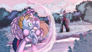 MLP | Commission: Tempest Attack by Anonsbelle