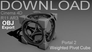OBJ - Portal Pivot Cube Model by 100SeedlessPenguins