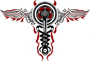 evil caduceus with T and D by Linkmaster101