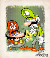 The Brothers Mario. by miss-strychnine