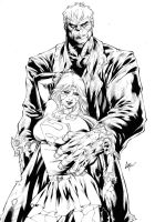 Commission - Solomon Grundy Bizarro Supergirl Inks by CaioMarcus-ART